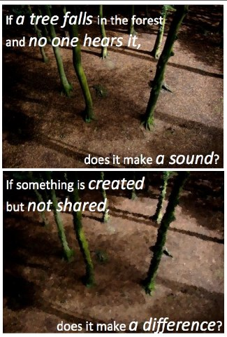 picture stating, if something is created but never shared, does it make a difference