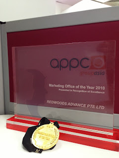 Redwoods Advance Pte Ltd received Marketing Office of the Year 2010 Award