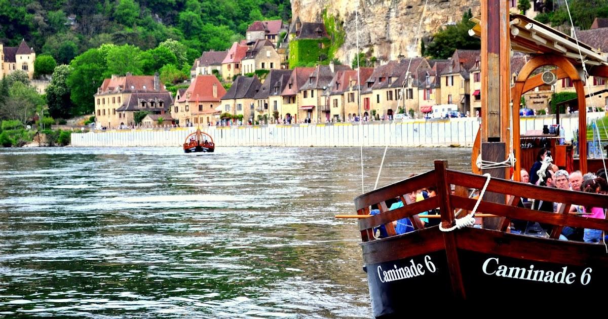In gabare sul Dordogne