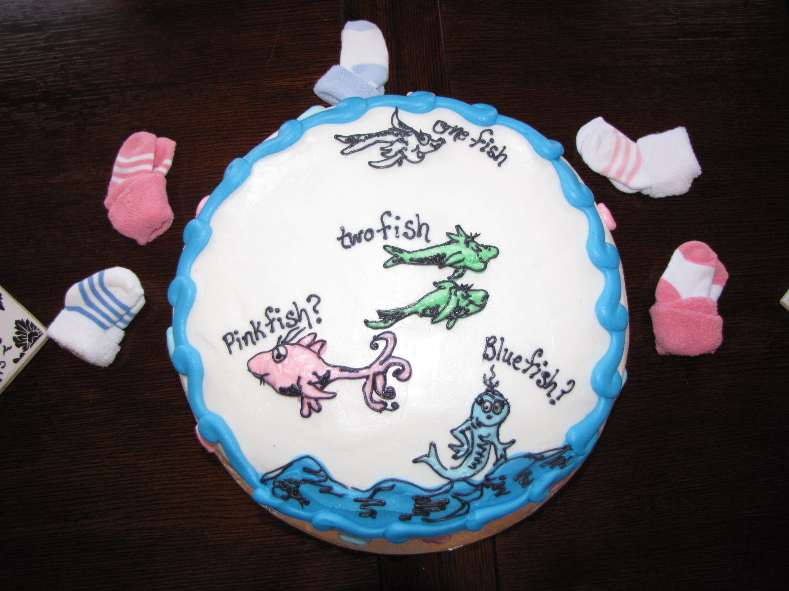 Happily ever after gender reveal party for Fishing gender reveal