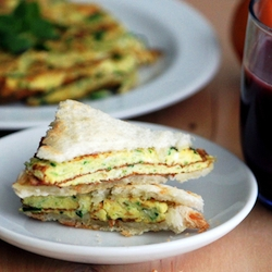 how to make omelette sandwich