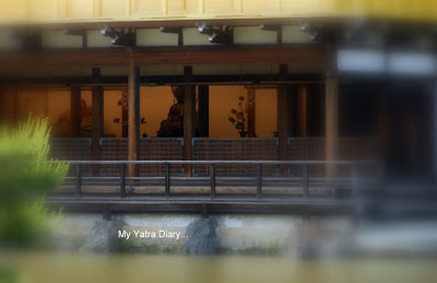 First floor of the Kinkaku-ji or the Golden pavillion, Kyoto in Japan