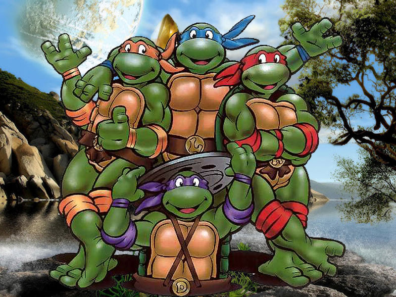 WALLPAPER FREE DOWNLOAD: Ninja Turtles Cartoon Desktop
