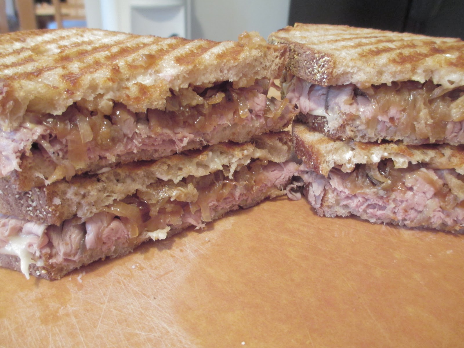 "... are you making for dinner?"": Balsamic Double Onion Roast Beef Sandwich"