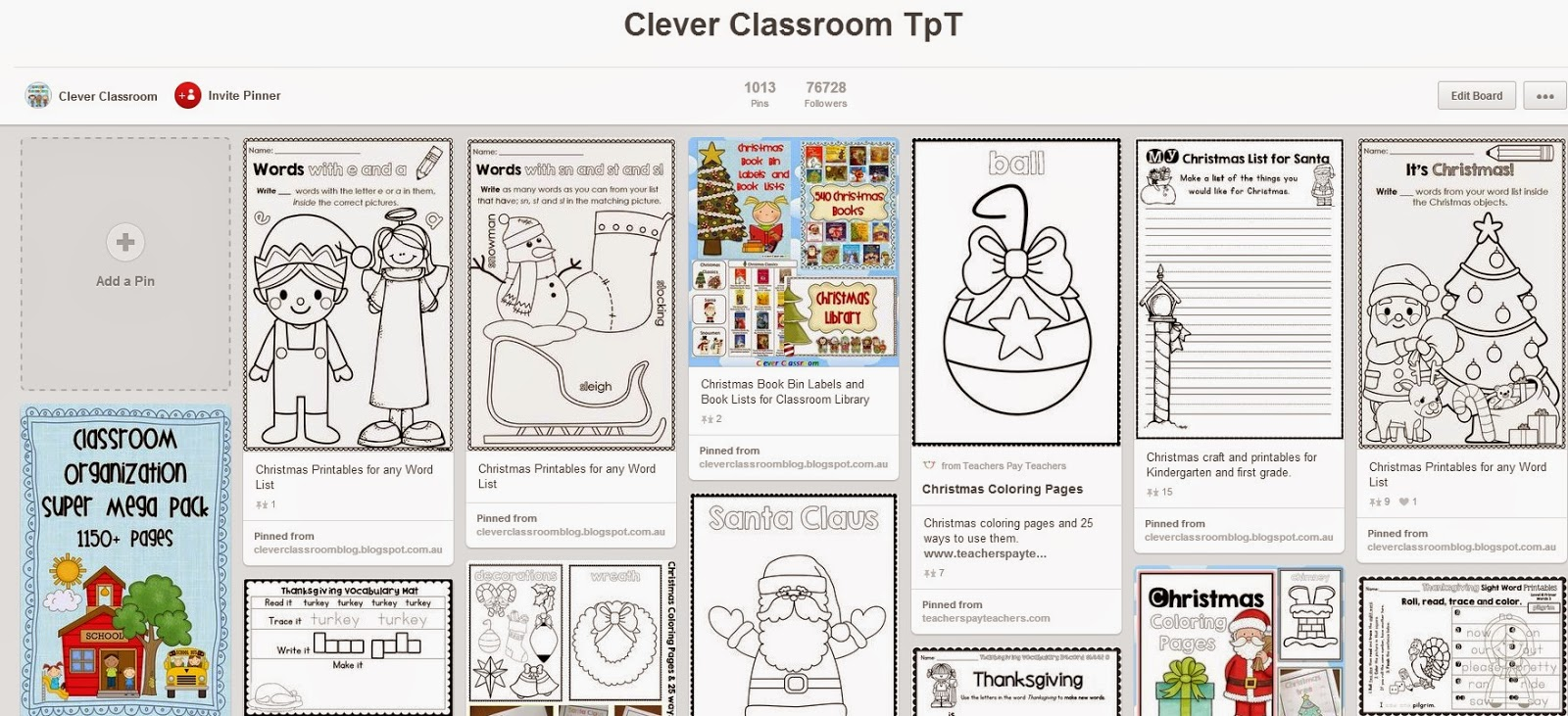 Clever Classroom Pinterest board