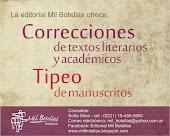 SE OFRECEN: CORRECCIONES Y TIPEO DE MANUSCRITOS