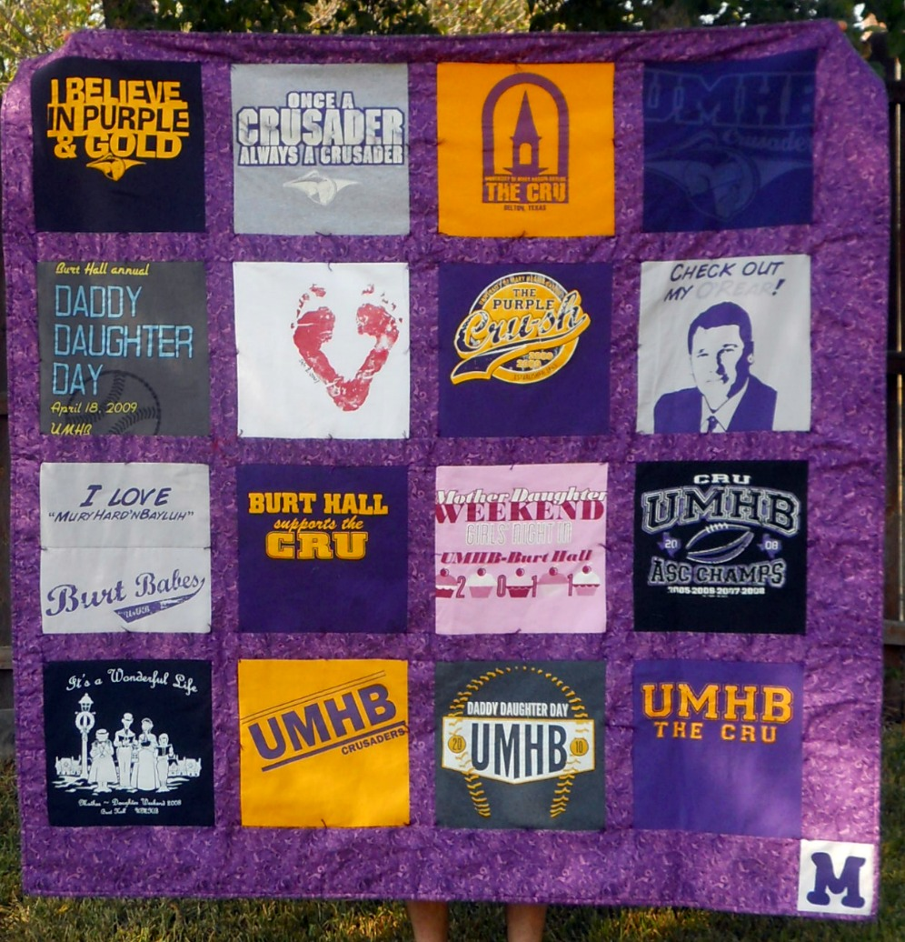 How to Make a Quilt from Tee Shirts  wikiHow