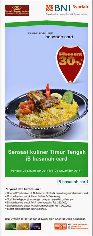 Nikmati sensasi kuliner di Al -Jazeerah Resto dengan iB hasanah card