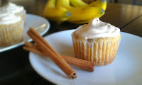 Egg Free Banana Cupcakes W/ Cinnamon Cream Cheese Frosting