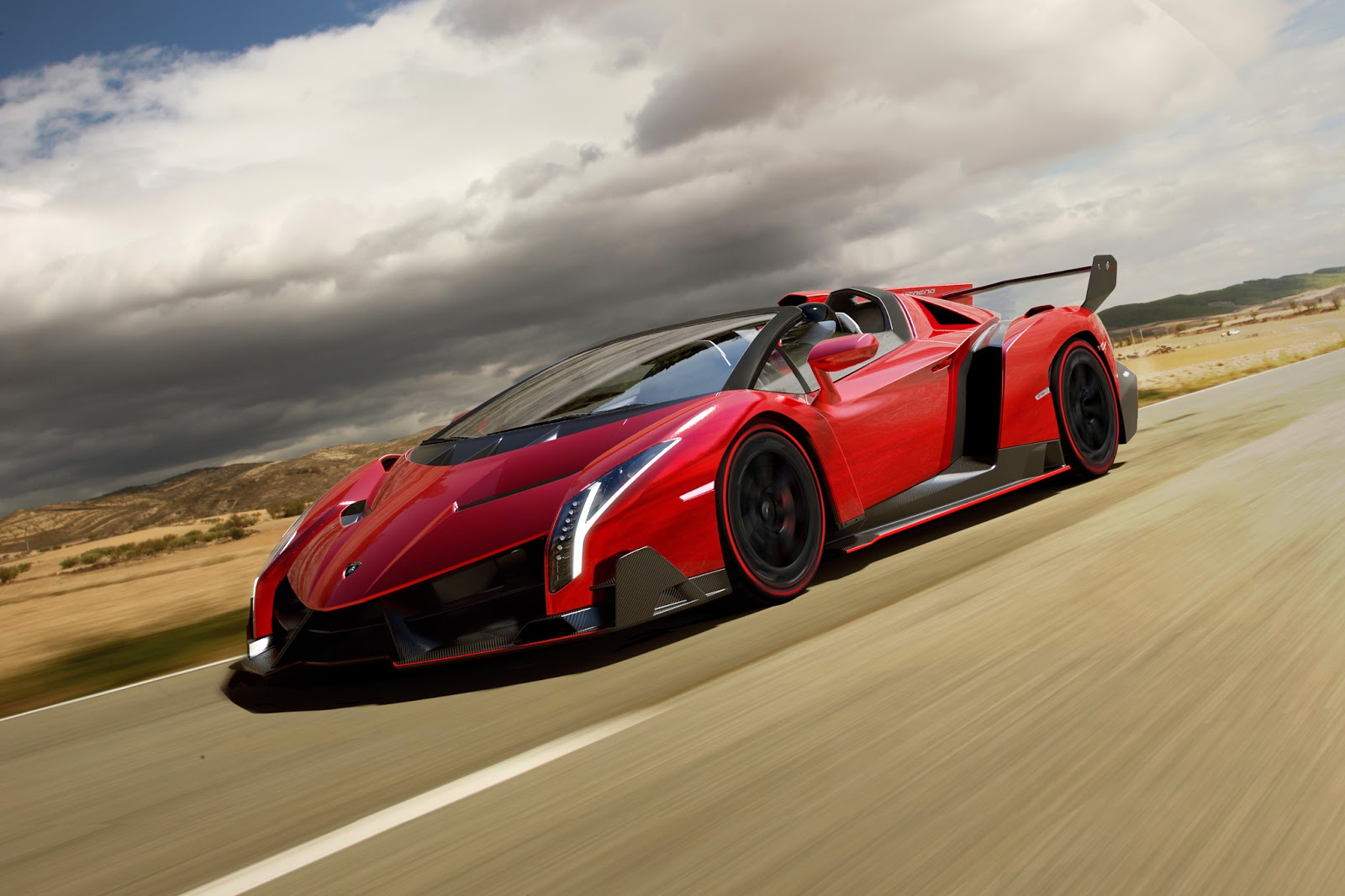 Top Supercar Models Lamborghini Veneno Roadster 2014