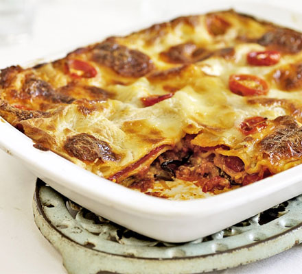Roasted vegetable lasagne recipe - How to make roasted vegetable ...