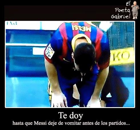 Te doy hasta que Messi deje de vomitar antes de los partidos
