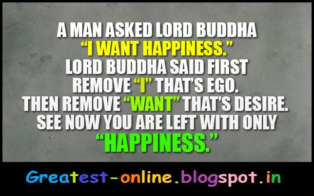 Lord Buddha Quotes - I Want Happiness