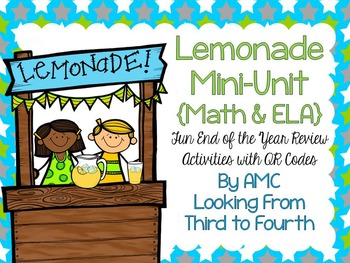 http://www.teacherspayteachers.com/Product/Math-ELA-End-of-the-Year-Review-with-QR-Codes-Lemonade-Mini-Unit-1241230