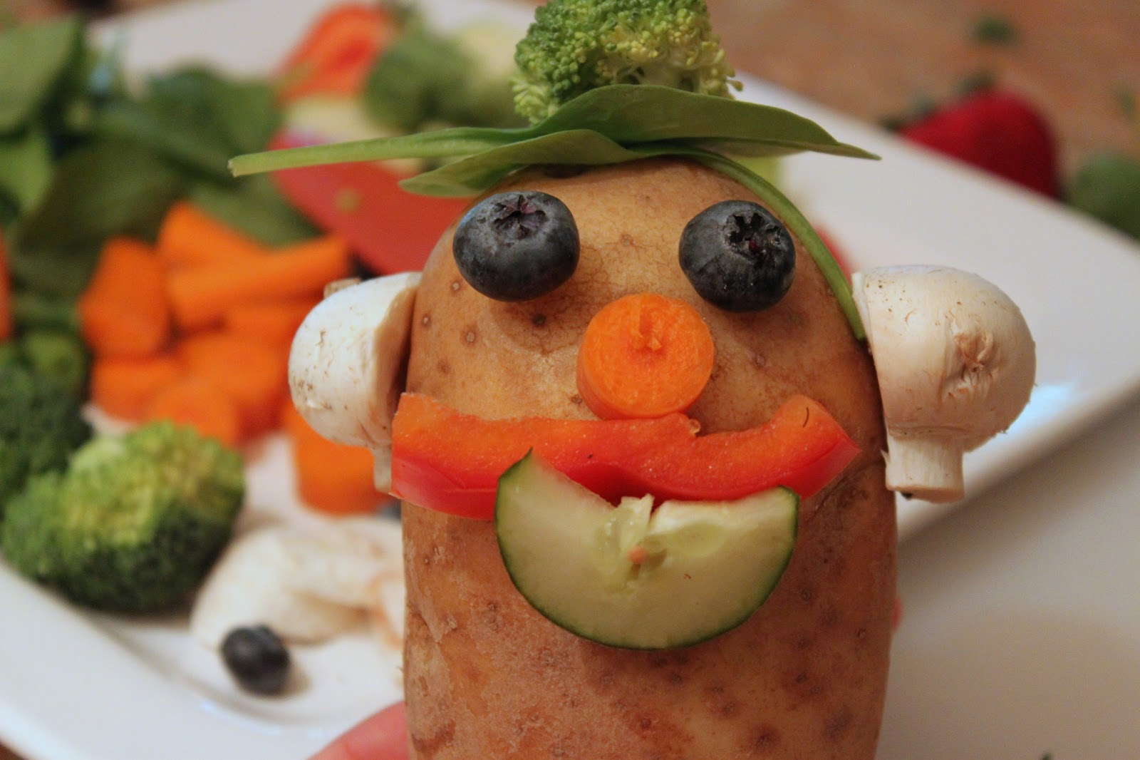 image Fun with veg get your 5 a day