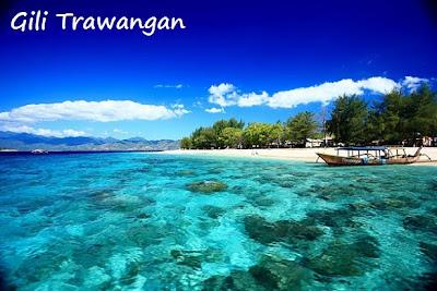 pulau gili, wisata lombok, laut, jernih, biru