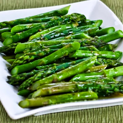 Roasted Asparagus with Warm Lemon Dressing