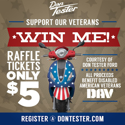 Support The Disabled American Veterans And Win A Custom Piaggio Scooter Courtesy Of Don Tester