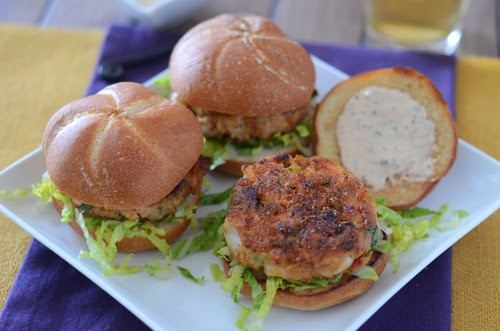 shrimp slider, shrimp cakes, crab cake alternative