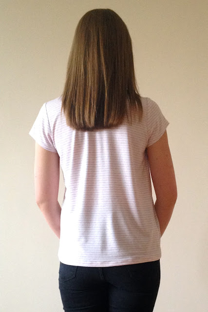 Diary of a Chain Stitcher: Striped Cotton Jersey Grainline Scout Tee