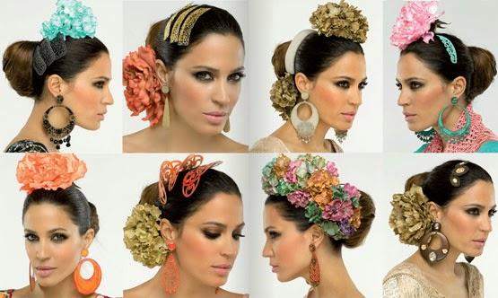 complementos flamenca El Corte Inglés 2014 peinetas flores pendientes