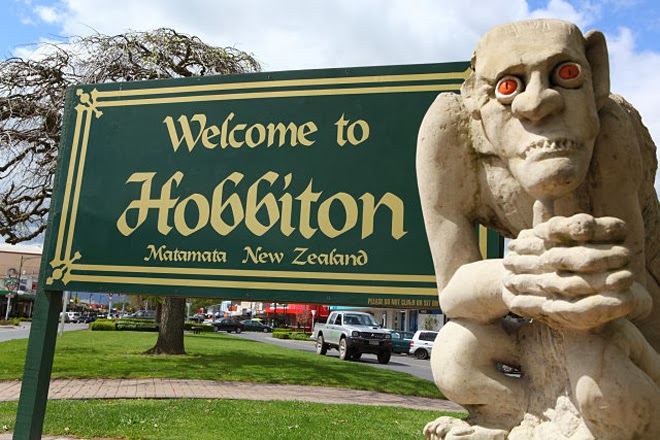 Matamata Welcome Board wiht Gollum