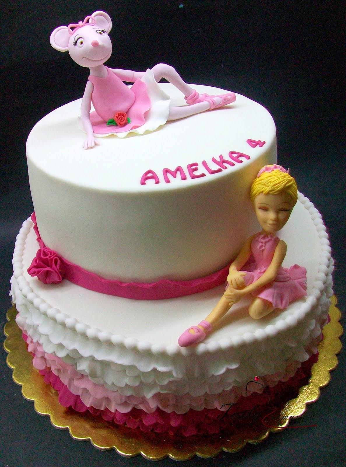 tort z baletnicami