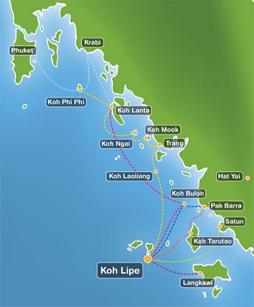 Langkawi Island Hopping Map