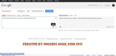 Belajar Bahasa Inggris via Google