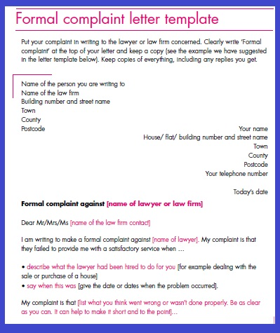 Formal complaint letter sample complaint letter template usagov michaelfarms our products food safety spiritdancerdesigns Gallery