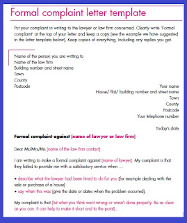 formal complain letter template to lawyer pictures | formal complain letter template images