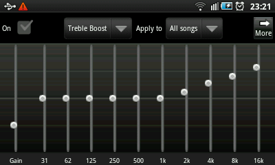 Android Music Player - Equalizer