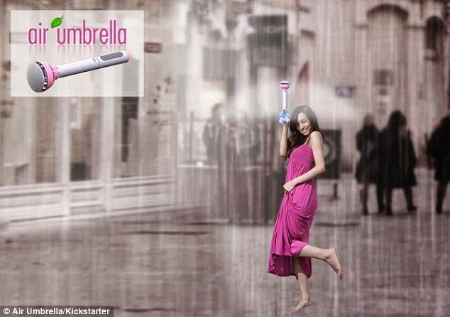 This New Umbrella Creates A Force-field Of Air To Protect You From The Rain