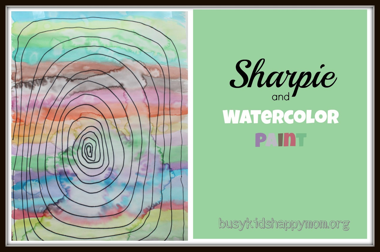 Craft ideas with sharpies - Sharpie And Watercolor Paint From Busy Kids Happy Mom