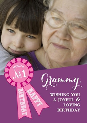 Treat Greeting Cards, Grandma's Birthday, Photo, Personalized Card