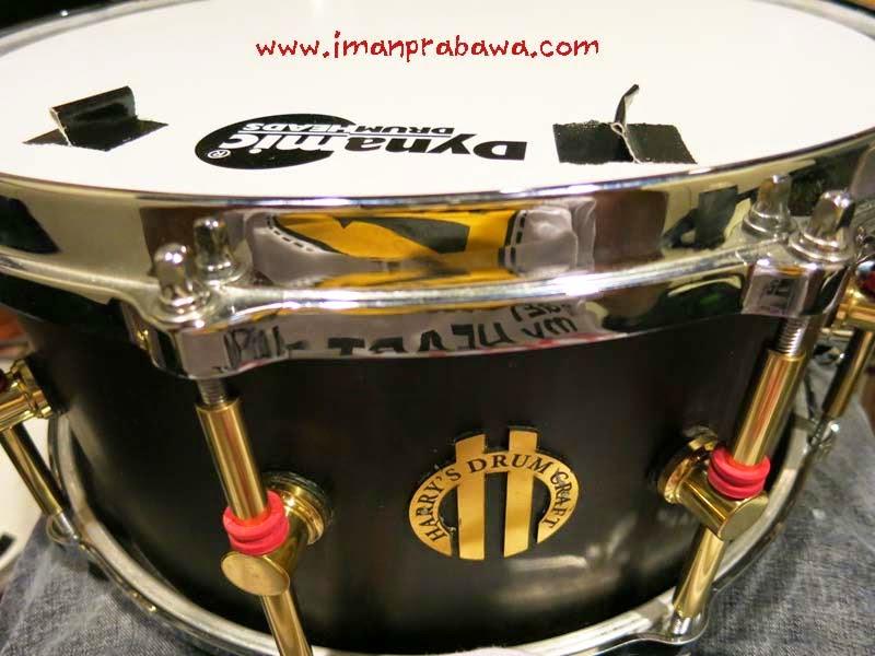 Snare Drum Harry's Drum Craft Ebony