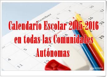 Calendario Escolar 2015-2016 en toda España