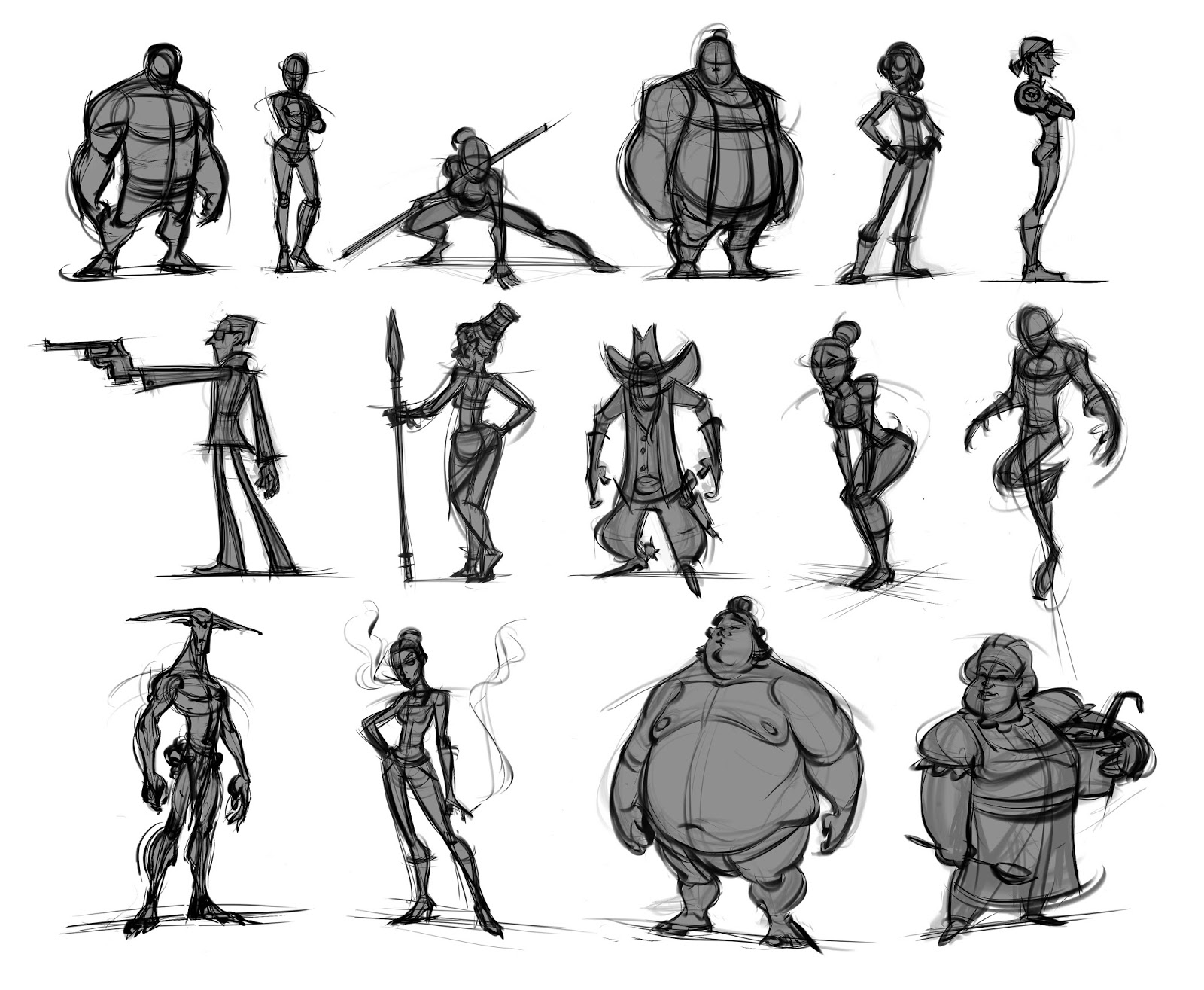 10 Character Design Tips : Blackest animation quick out of my head sketches