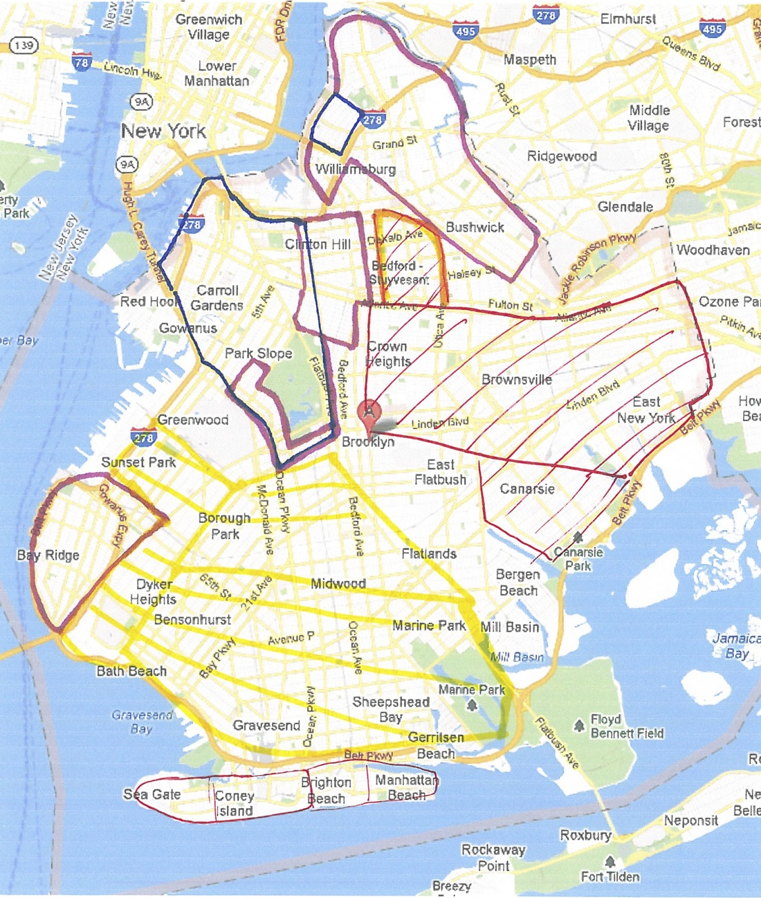 Map Of Neighborhoods To Avoid In Brooklyn New York Pinterest - Nyc map with neighborhoods