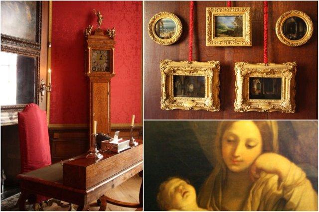 Despacho y Cuadros en el Palacio de Hampton Court, Londres