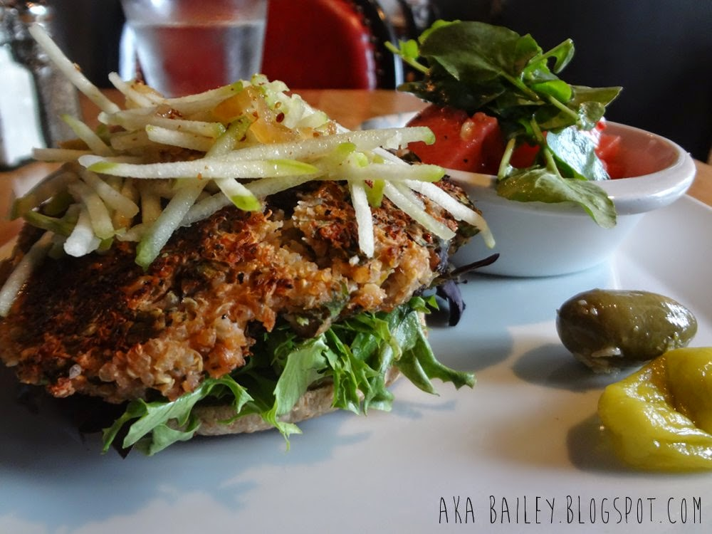 Amazing quinoa burger from Romers Burger Bar in Vancouver