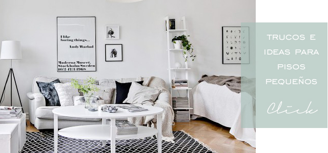 Trucos para decorar pisos pequeños