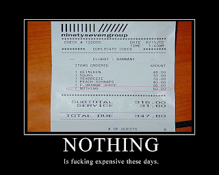 motivational Nothing receipt is fucking expensive these days, motivational nothing is expensive, nothing is expensive, motivational posters, funny pictures, demotivational
