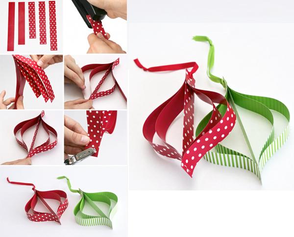 DIY, Adornos de Navidad con Papel