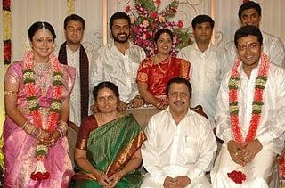 Jyothika Surya's family