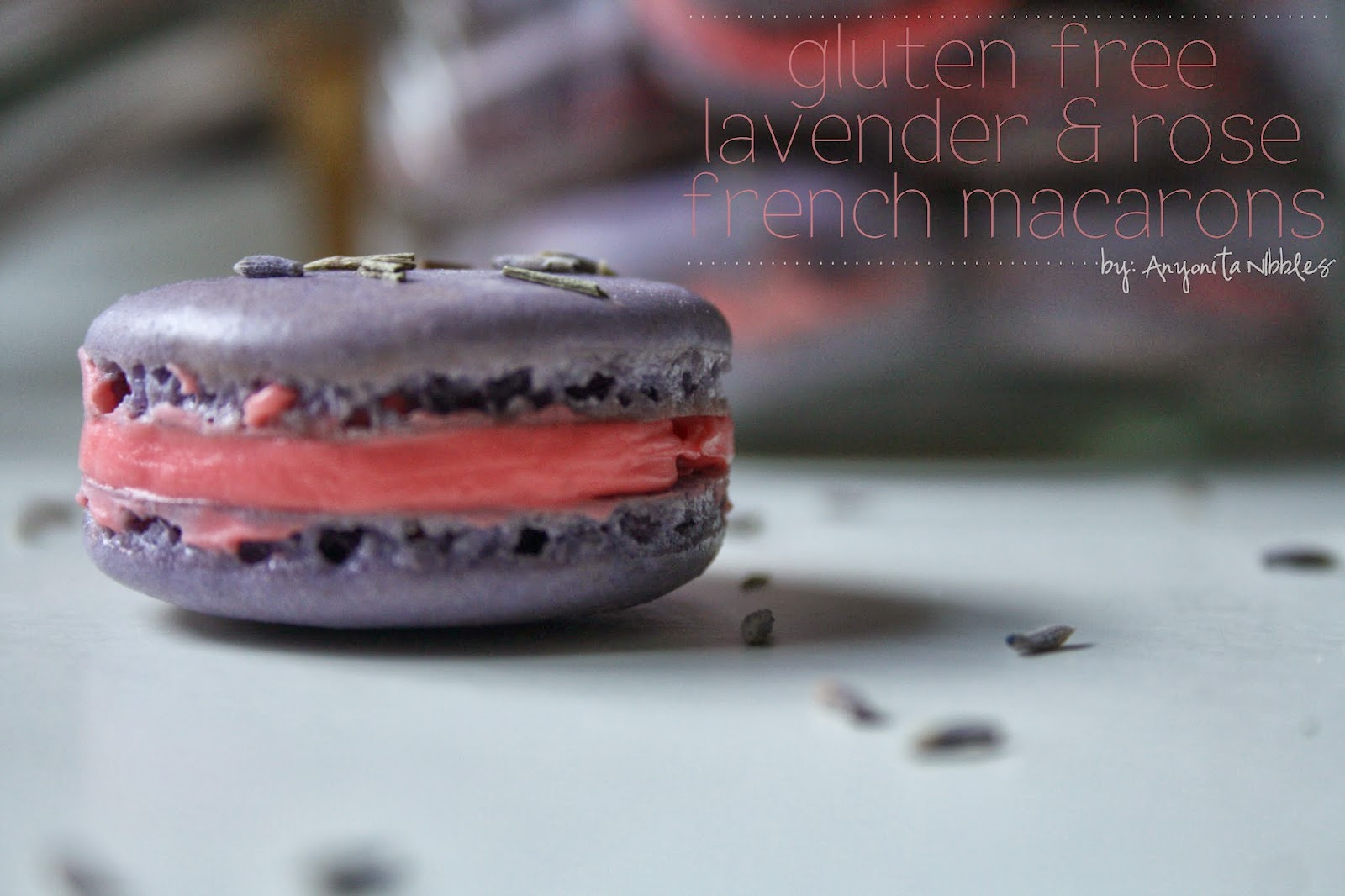 Gluten Free Lavender & Rose Frenhc Macarons