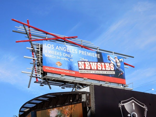 Disney Newsies musical LA premiere billboard