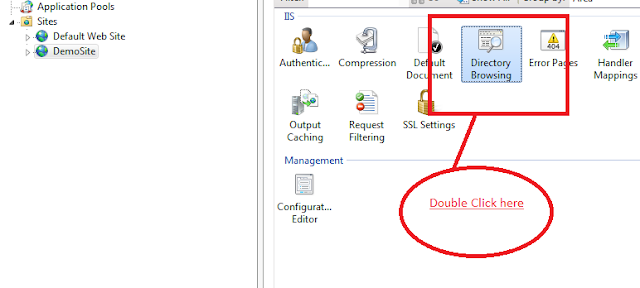 Directory Browing in IIS