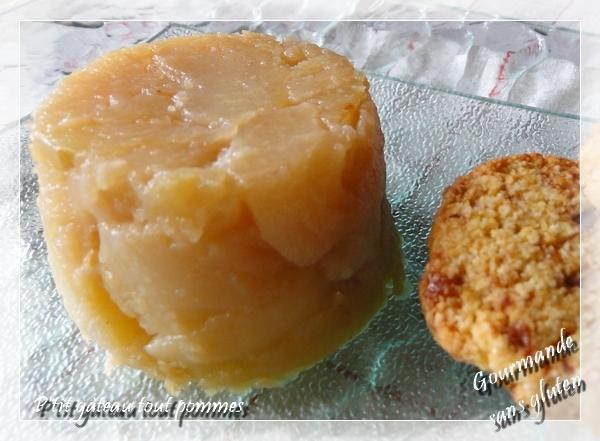 gâteau tout pommes sans farine