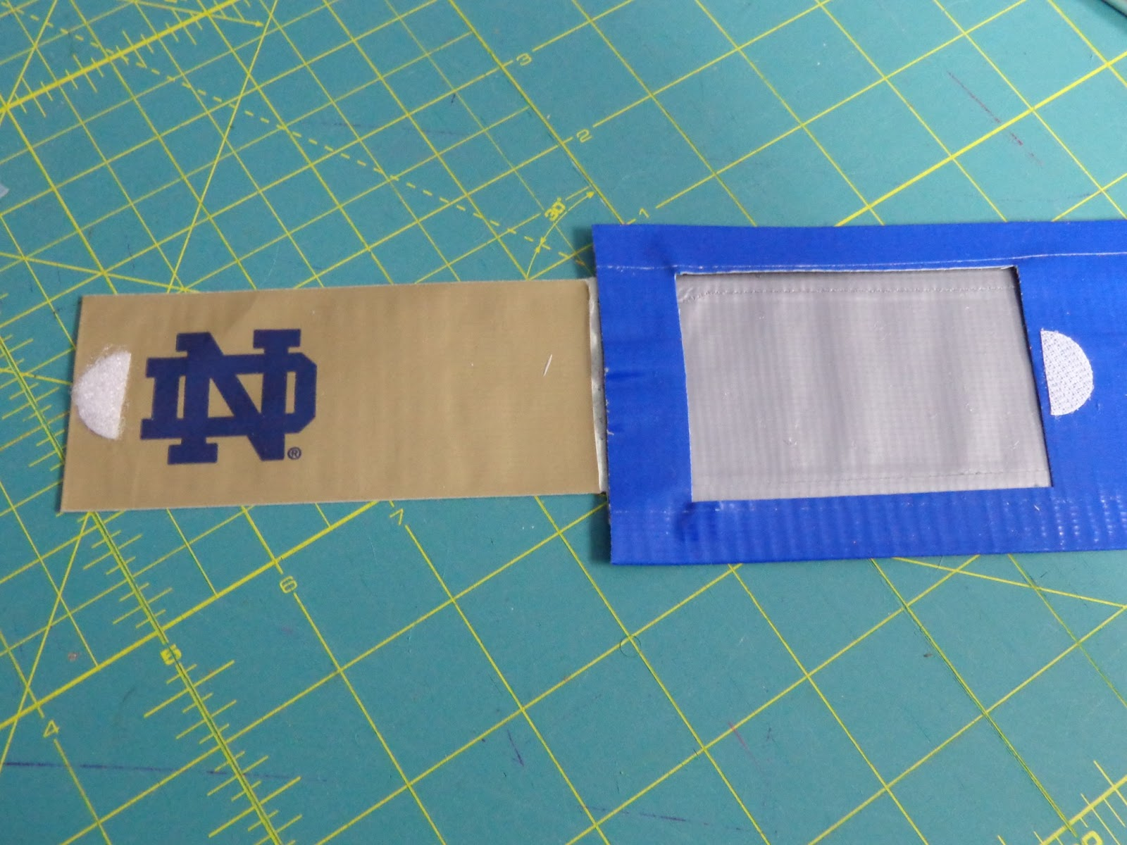 Simply devine collegiate luggage tags using duct tape a custom made notre dame duct tape luggage tag magicingreecefo Choice Image